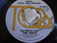 Rare Northern Soul Popcorn 45 : Hal Miller and The Rays ~ An Angel Cried ~ Topix