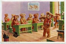 ARTIST SIGNED. ARTHUR THIELE. OURS HUMANISéS. VIOLON. HUMANIZED BEARS.