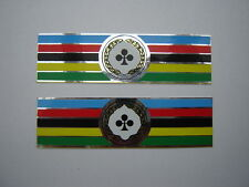 COLNAGO WORLD CHAMPION - RAINBOW DECALS / STICKERS MIRROR SILVER / CHROOM