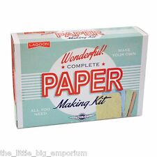 Childrens Educational Paper Making Kit Craft Scrap Recyled Paper Recycling Cards