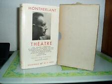 LA PLEÏADE / MONTHERLANT THÉÂTRE N°106 DE 1958