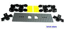 LEGO FERROVIA/TRENO Vagone Set/6x24 grigio scuro piastra/2x Ammortizzatore,4x