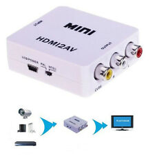 Mini 1080 Composite HDMI to 480i RCA Audio Video AV CVBS Adapter Converter HDTV