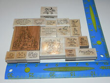 Stampin Up Dreams & Dragons Stamp Set of 17 Castle Knight Unicorn Dare to Dream