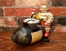 Michelin Man Bibendum Air Compressor Vintage Cast Iron Advertising Model