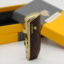 NEW COHIBA Red Metal 3 TORCH JET FLAME CIGAR Cigarette LIGHTER W/ PUNCH best