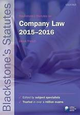 Blackstone's Statutes on Company Law: 2015-2016 by Oxford University Press...