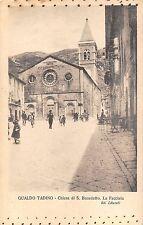 182) GUALDO TADINO (PERUGIA) CHIESA S. BENEDETTO. LA FACCIATA, ANIMATA. VG 1917.