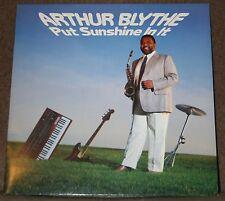 ARTHUR BLYTHE - PUT SUNSHINE IN IT. (EX +, 1985, CBS 26098, STANLEY CLARKE)
