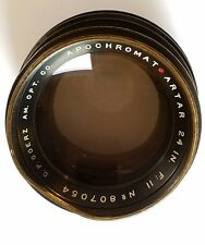 "Goerz Red Dot Apochromat Artar 24"" f11 barrel coated glass is excellent APO"