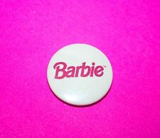 1 Inch Vintage Style Barbie doll Pink Logo button pin badge