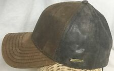 STETSON CAMPBELL GOAT PIG SKIN LEATHER MEDIUM 57CM GERMANY FITTED BALL CAP 7 1/8