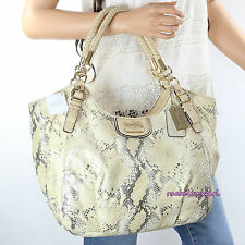 NWT Coach Madison Embossed Python Metallic Leather Abigail Bag 18949 NEW RARE