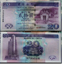 China macau 20 Yuan 2003 year BOC issue BrandNew Banknotes
