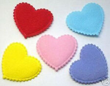 "150 MIxed Padded Felt Heart 1 1/8"" appliques Mix-Cardmaking"