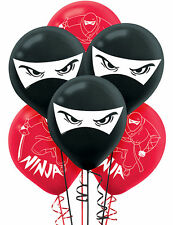 Ninja Latex Balloons 6ct ~ Birthday Decorations Party Favor Supplies