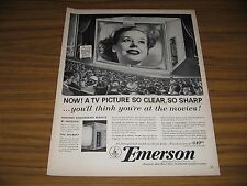 1953 Print Ad Emerson TV Television Sets 21 Space Saver Model 740