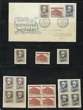1952 Czechoslovakia First Day Cover & Associated Mint Stamp Sets As Shown (K63)