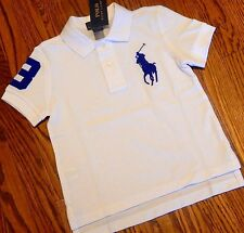POLO RALPH LAUREN TODDLERS/KIDS BOYS BRAND NEW WHITE T-SHIRT/TOP Size 2T, NWT