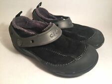 Boys Black suede Crocs clogs shoes size 1