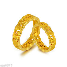 1pcs NEW PURE 24K Yellow Gold Ring Women&Men Perfect Bless Maxim Ring US Size 7