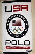 "POLO RALPH LAUREN Large Oversized Cotton Beach Towel, Team USA, Flag, 40"" x 70"""