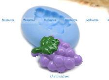 Moule silicone raisin, Fimo, cernit, porcelaine, plâtre, résine, pâte à sucre