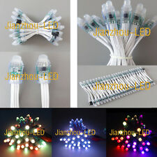 500pcs WS2811 Xmas Digital RGB Pixel 12mm LED String Light IP68 Waterproof DC 5V