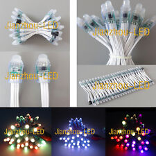 100pcs WS2811 Xmas Digital RGB Pixel 12mm LED String Light IP68 Waterproof DC 5V