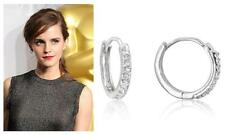 Celebrity Style 1.3 Ct CZ Cubic Zirconia Pave Mini Hoop Earrings