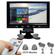 "9"" TFT LCD CCTV PC Monitor Touch Button HD Screen HDMI Video Display w/ Speaker"