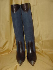 J. Vincent Knee High Fashion Boot, Pointed Steel Tipped Toe and Heel, size 6