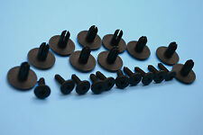 VOLVO BLACK PLASTIC RIVET TRIM PANEL RETAINER FASTENERS CLIPS
