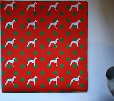 WHIPPET THEMED GIFT WRAPPING PAPER.   BUY ONE GET ONE FREE