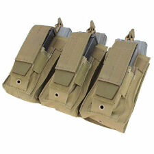 Condor MA55 MOLLE Triple Tactical Mag Pouch TAN 5.56mm AR-15 Rifle & Pistol Mags