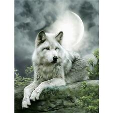 Moonlight Wolf 5D Full Drill Diamond DIY Embroidery Painting Cross Stitch Decor