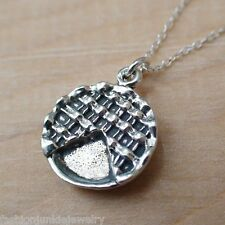 Pie Necklace - 925 Sterling Silver - Pie Bakery Pastry Food Chef Cook *NEW*