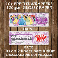 Disney Princesses Personalised Kitkat Chocolate Wrappers Party Favours Gift Bag