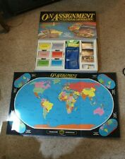 Old Vintage 1990 On Assignment with National Geographic Board Game Family Travel