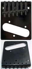 Guitar Parts TELECASTER BRIDGE Top & Bottom Load - BLACK