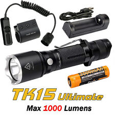 Fenix TK15 UE Ultimate Edition 1000 Lumens LED Flashlight Torch Tactical Package