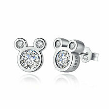 Disney 925 Sterling Silver Dazzling Minnie Mouse Stud Earrings for Women Jewelry