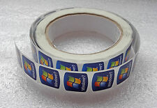Lot of 50 Original Windows 7 Replacement Stickers 18mm x 18mm For Laptop
