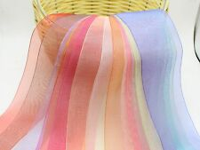 "10 Meter 25mm(1"") Sheer Organza Ribbon Gift Bow Wedding Craft 10 Color"
