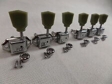 Guitar Tuners Vintage x 6 Machine Head For LP SG Tulip Style 3L + 3R Chrome New