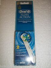 Oral-B Professional Floss Action 2 Replacement Brush Heads Brand New Sealed