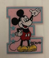 Mickey Mouse ABCs Alphabet letter E Iron on / sew on patch