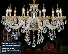 Island 10 Lights Pendant Lamp Champagne Gold Crystal Chandelier Wall Fixtures