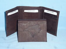 TORONTO BLUE JAYS    Leather TriFold Wallet    NEW    dkbr 3  m1
