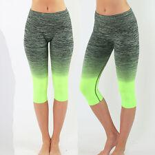 Summer WOMENS Fitness Tight Waistband Exercise Yoga Capri Legging Pants